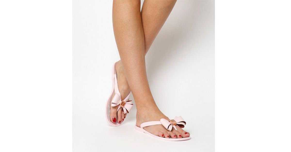 a5d0e4e07f22 Lyst - Ted Baker Rueday Flip Flop in Pink