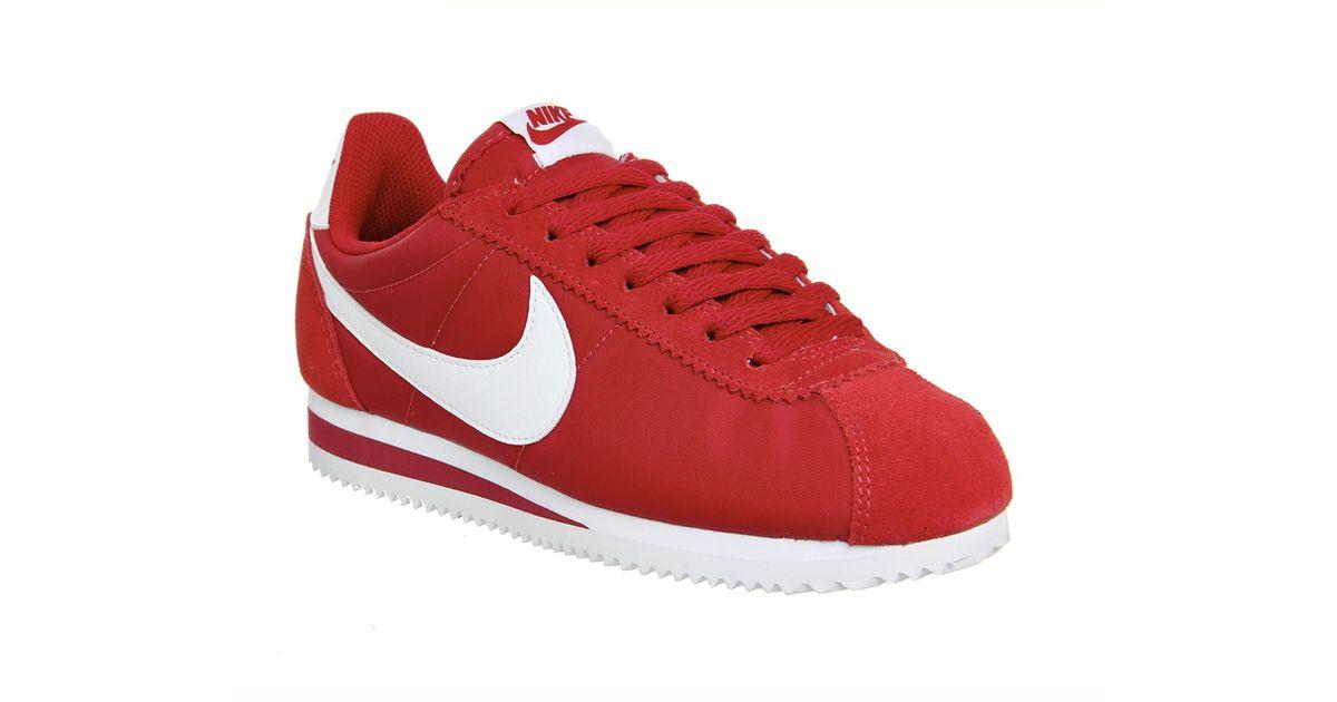 size 40 3b565 4696e Nike - Red Cortez Nylon - Lyst