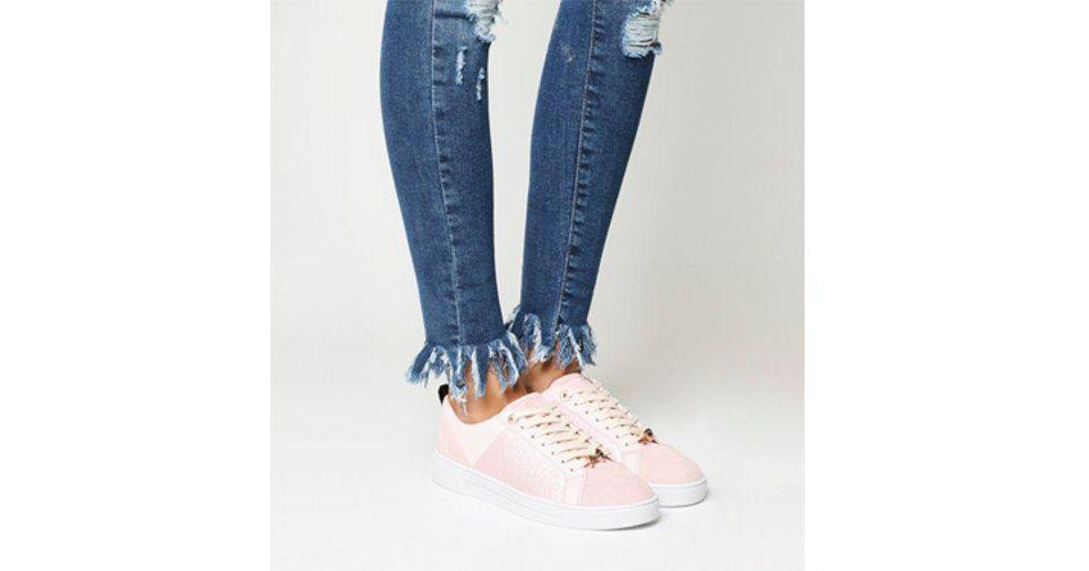 26a25ec93815cd Lyst - Ted Baker Kulei Sneaker in Pink