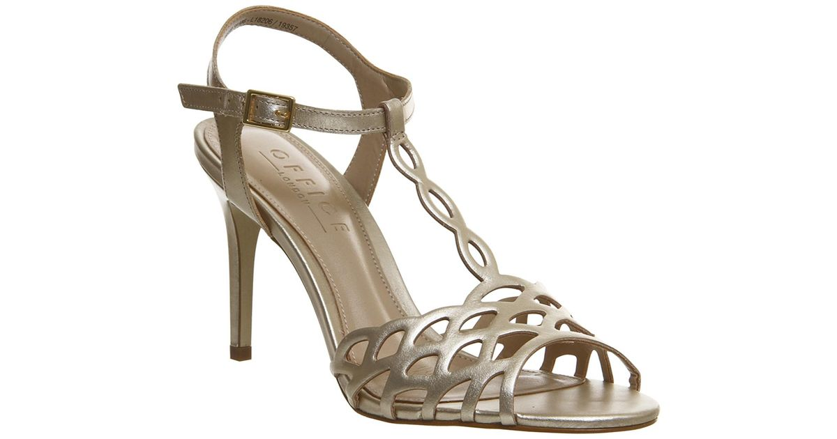 b7aedc0094 Lyst - Office Mariah Vintage Cut Out Sandal E in Metallic
