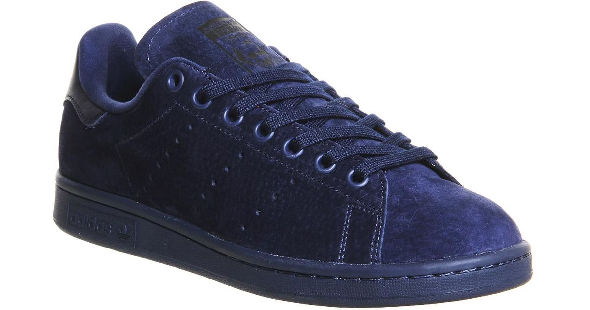 f1bffd71fcf6b Lyst - adidas Stan Smith Suede Sneakers - Blue in Blue for Men
