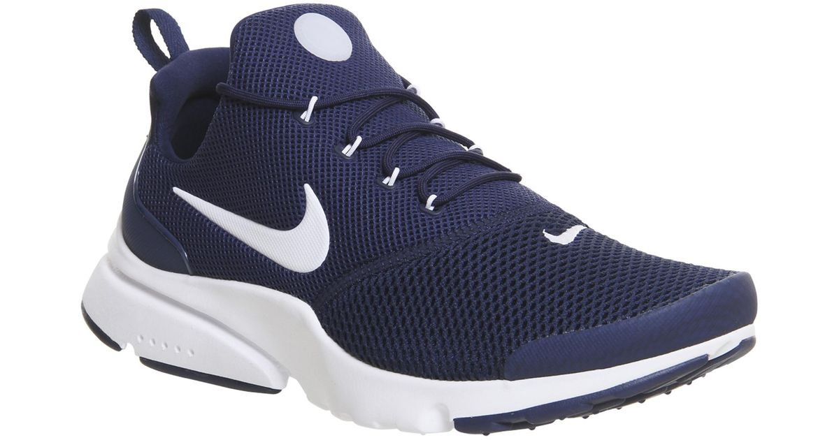 nike presto fly trainers in blue for men lyst. Black Bedroom Furniture Sets. Home Design Ideas