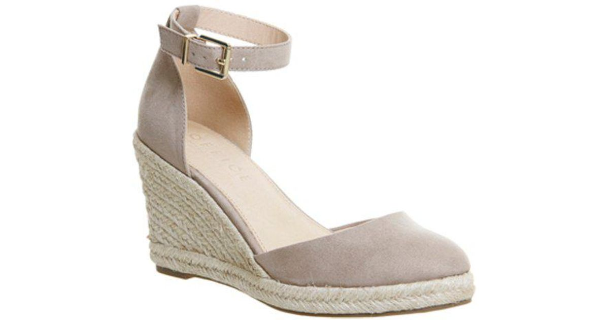 88f64817869b Lyst - Office Marsha Closed Toe Espadrille Wedge in Natural