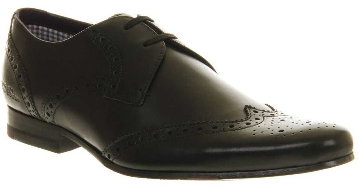 d40702f19a42 Lyst - Ted Baker Nenoi Lace Up Black Leather in Black for Men