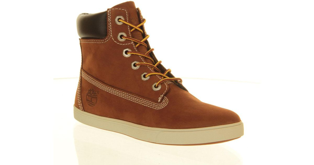 e8ecfadc5ed5 Lyst - Timberland Deering 6 Inch Cupsole Boots in Brown