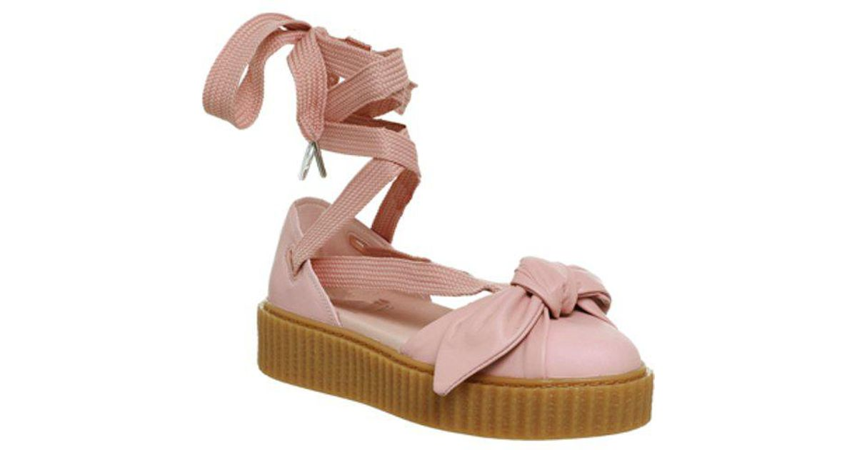 c79a54cab4d Lyst - PUMA Creeper Ballet Lace in Pink
