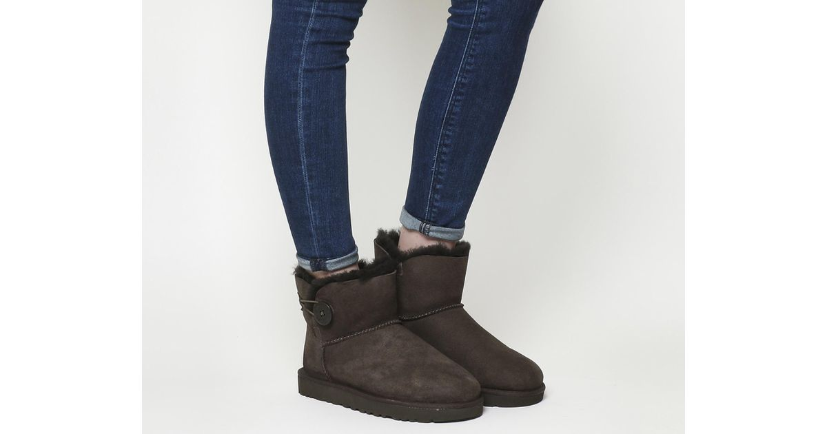 c859c0810fe Lyst - UGG Mini Bailey Button Ii Boots in Brown
