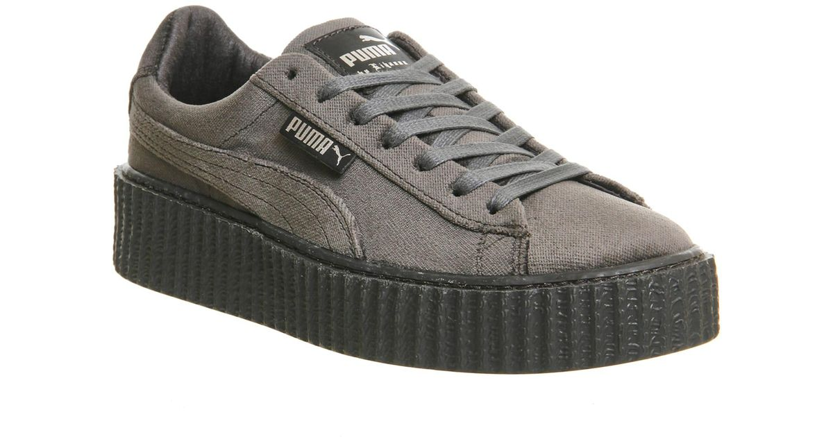 size 40 57cfa a8569 PUMA - Gray Velvet Creepers - Lyst