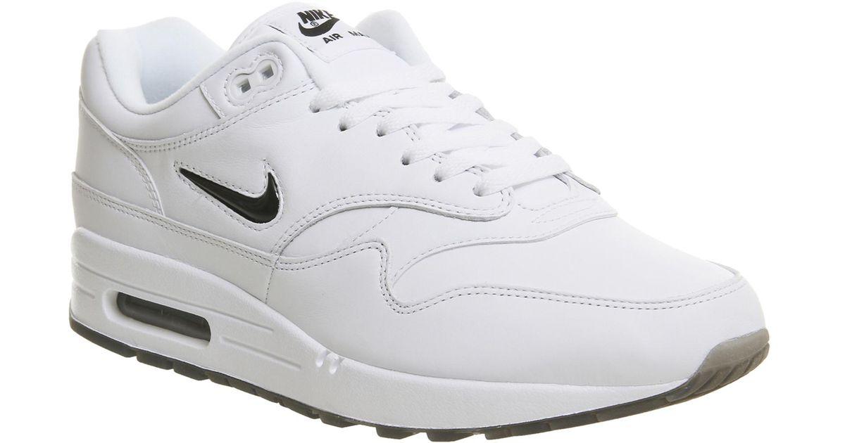 buy online f23b8 132db Nike Air Max 1 Jewel in White - Lyst