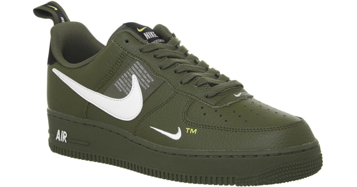 Lyst Nike Air Force 1 Utility Trainers In Green For Men