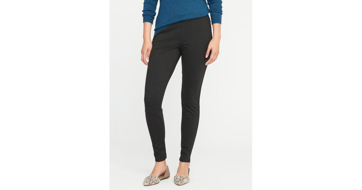 35883b7250a70 Lyst - Old Navy High-rise Stevie Ponte-knit Pants