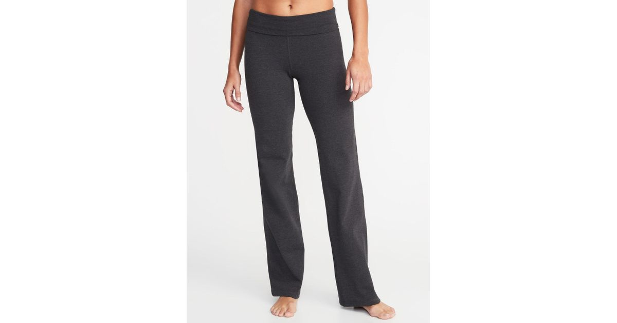 8b93526763029 Old Navy - Multicolor Mid-rise Wide-leg Roll-over Yoga Pants - Lyst
