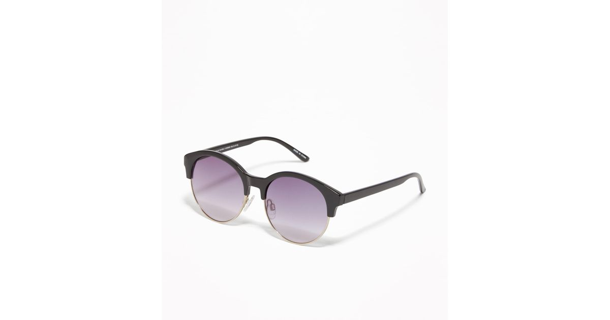 73f78c6a889 Lyst - Old Navy Half-frame Sunglasses in Black