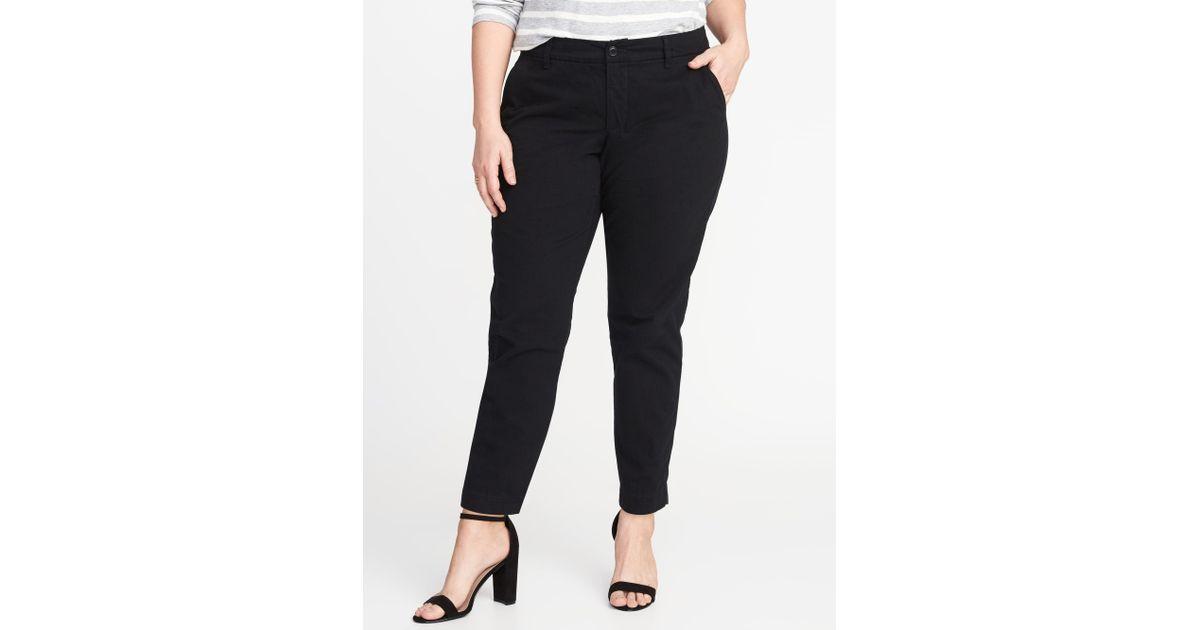 06dcd1e87fa Lyst - Old Navy Secret-slim Pockets Plus-size Everyday Skinny Khakis in  Black