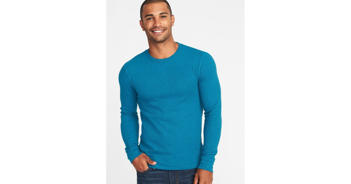 6ead794dd5b Lyst - Old Navy Soft-washed Thermal Crew-neck Tee in Blue for Men