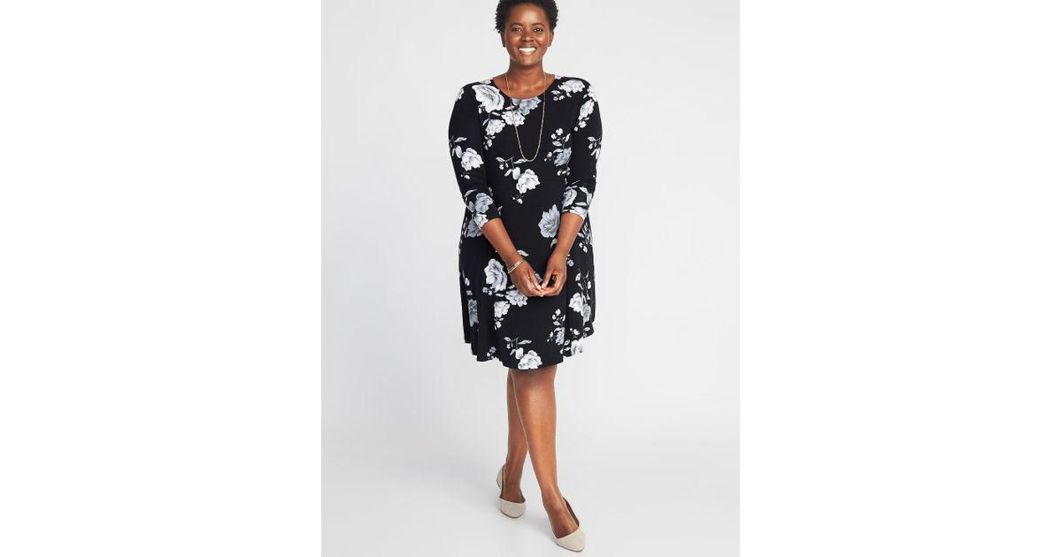 0fe3e8cca757 Old Navy Plus-size Jersey Swing Dress in Black - Lyst