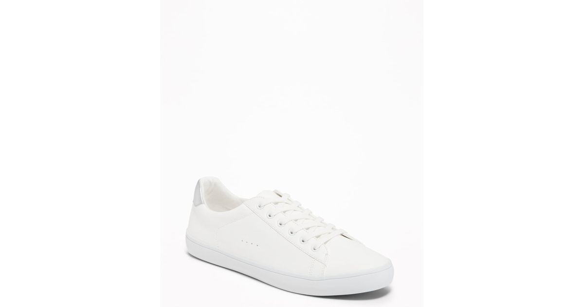 d3505e91c50 Lyst - Old Navy Faux-leather Classic Sneakers in White