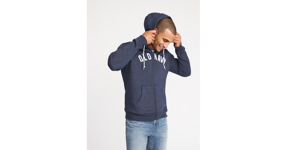 2c8e29269c8cb Old Navy Logo-graphic Zip-front Hoodie in Blue for Men - Lyst