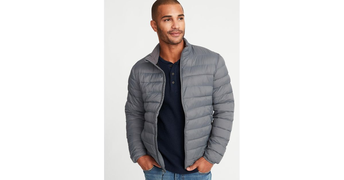 e83395145dfd Lyst - Old Navy Water-resistant Packable Quilted Jacket in Blue for Men