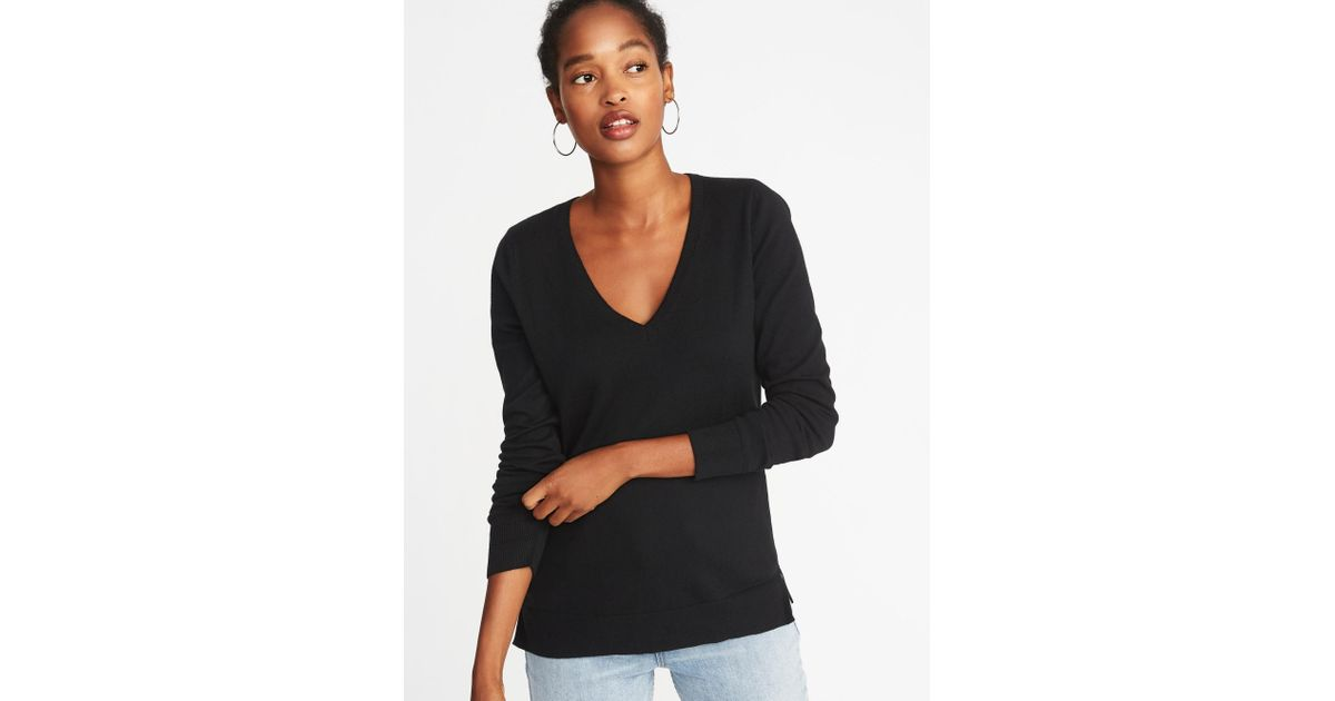 2853d2cda47 ... cheap for discount b64fb 25e82 Lyst - Old Navy Classic Marled V-neck  Sweater in ...
