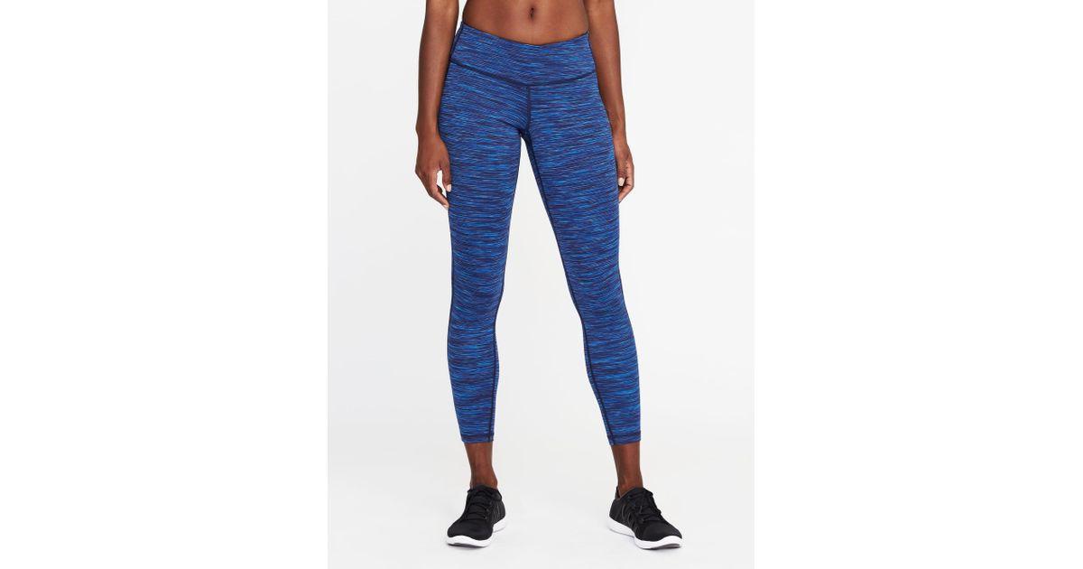04765468632a6a Lyst - Old Navy Mid-rise 7/8-length Space-dye Leggings in Blue