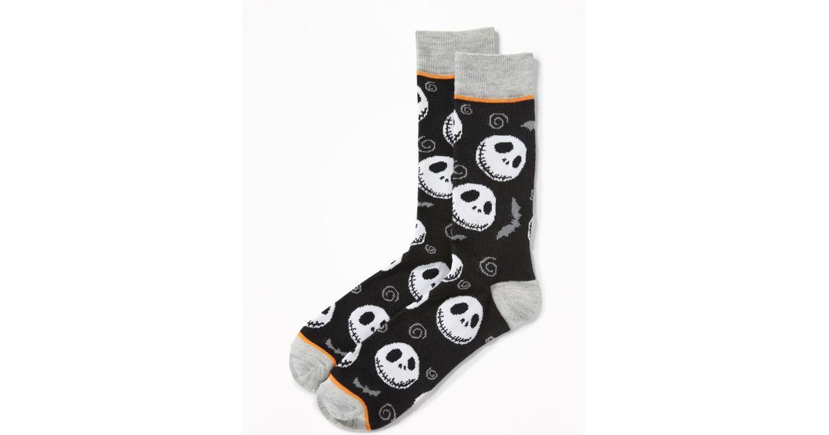 lyst old navy disney nightmare before christmas socks in black for men