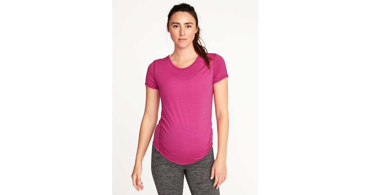 ebdecf9c979 Lyst - Old Navy Maternity Semi-fitted Performance Tee