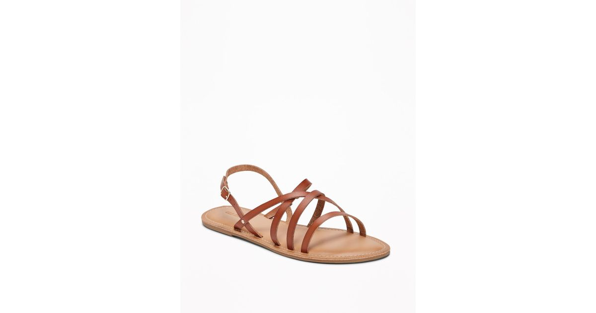 f545ff80918e Lyst - Old Navy Strappy Faux-leather Sandals in Brown