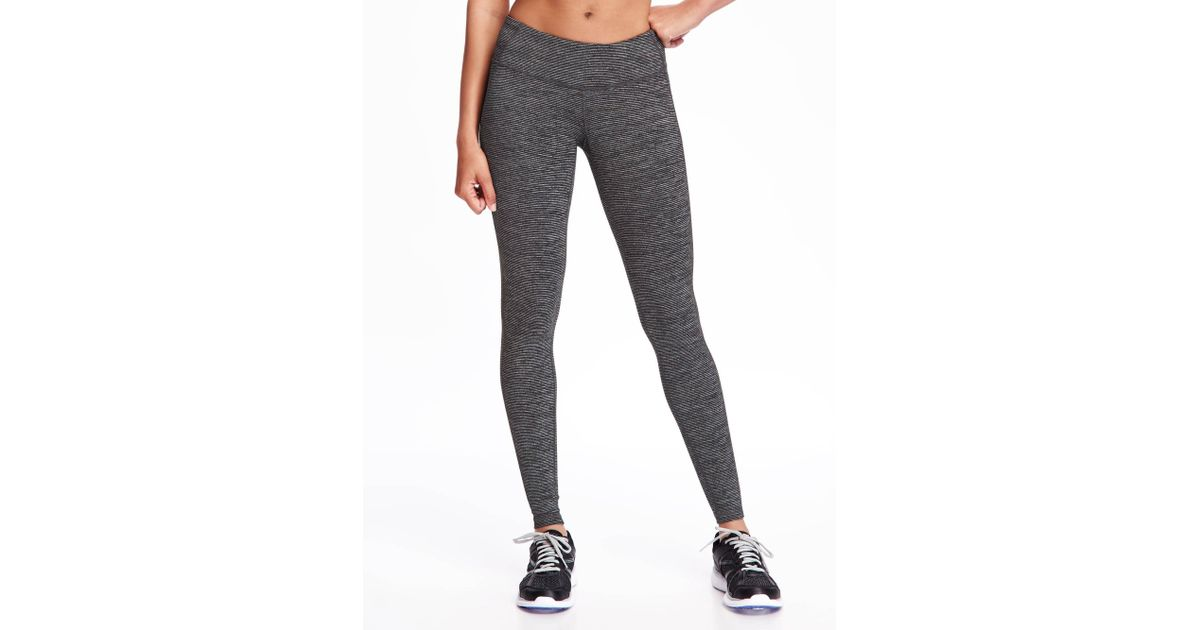 2a8efa5fe71c4f Old Navy Mid-rise Jersey Performance Leggings in Black - Lyst