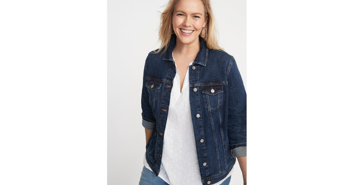 a96802af0e7 Lyst - Old Navy Classic Denim Plus-size Jacket in Blue
