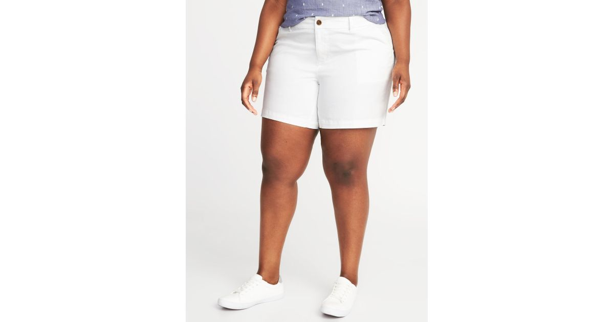 cae5f1ffe4b Lyst - Old Navy Mid-rise Plus-size Everyday Shorts (7