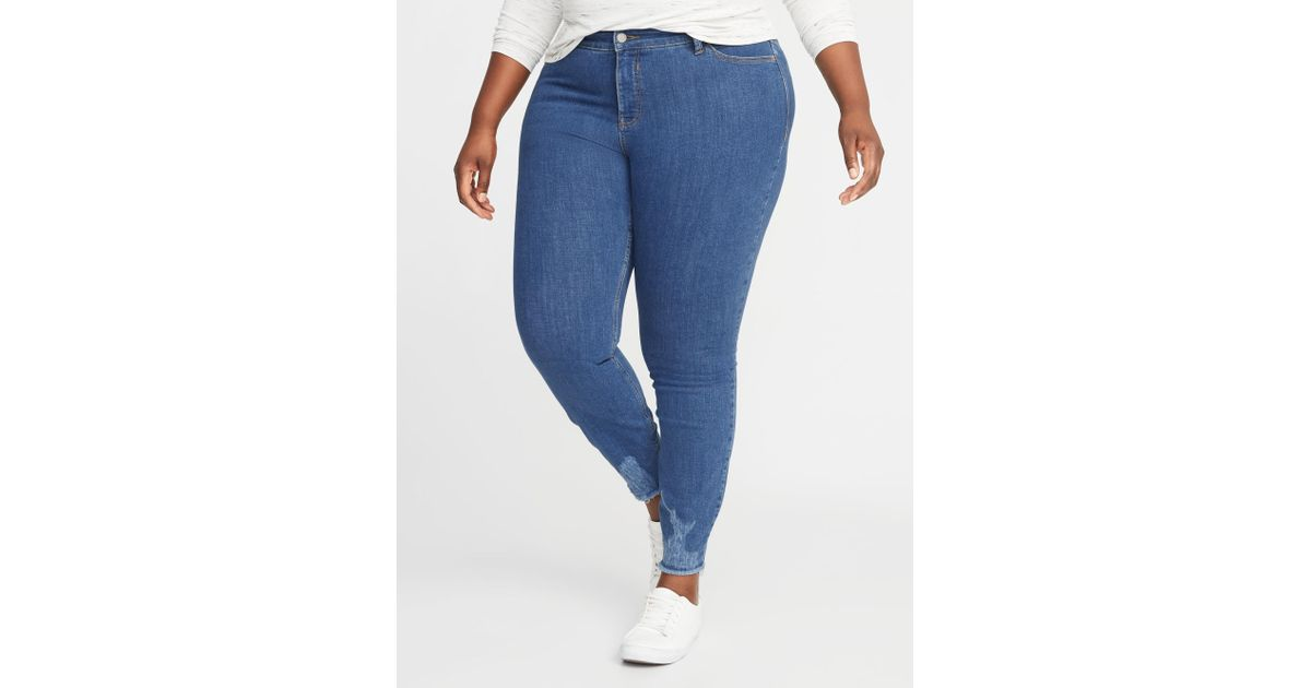 46beb94b8f1cb Lyst - Old Navy High-rise Secret-slim Pockets + Waistband Rockstar Plus-size  Super Skinny Ankle Jeans in Blue