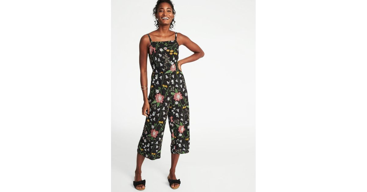 625e23f75fc Lyst - Old Navy Sleeveless Cami Jumpsuit in Black