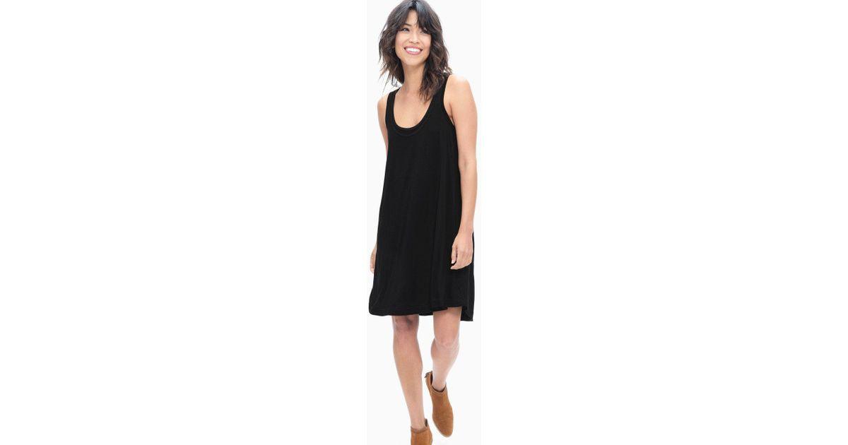 543d754a0683 Lyst - Splendid Rayon Jersey Tank Swing Dress in Black