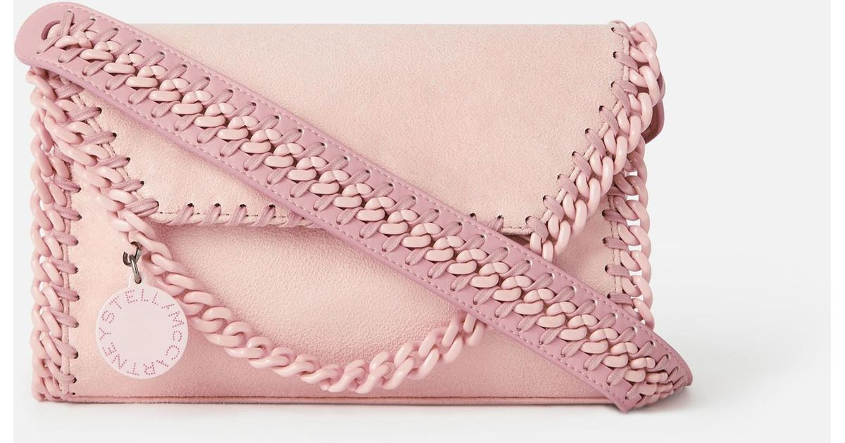 54ae6801f17c9f Stella McCartney Mini Falabella Shoulder Bag in Pink - Save 40% - Lyst