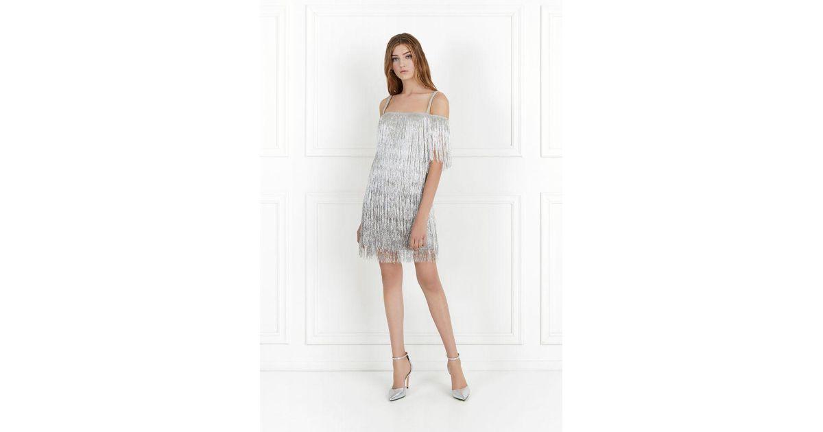 6cc926637431 Rachel Zoe Elie Metallic Fringe Mini Dress - Lyst
