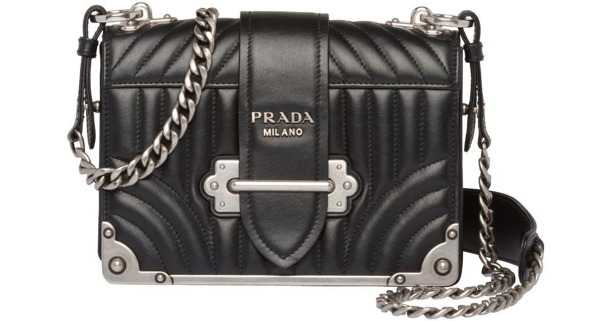 da9406675f8a33 Lyst - Prada Cahier Diagramme Bag in Black