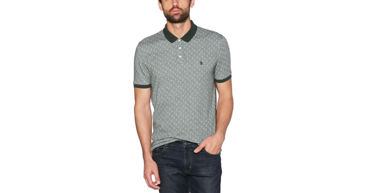 3ab08d682c9e Original Penguin Classic Fit Oxford Dobby Polo in Gray for Men - Save 53% -  Lyst