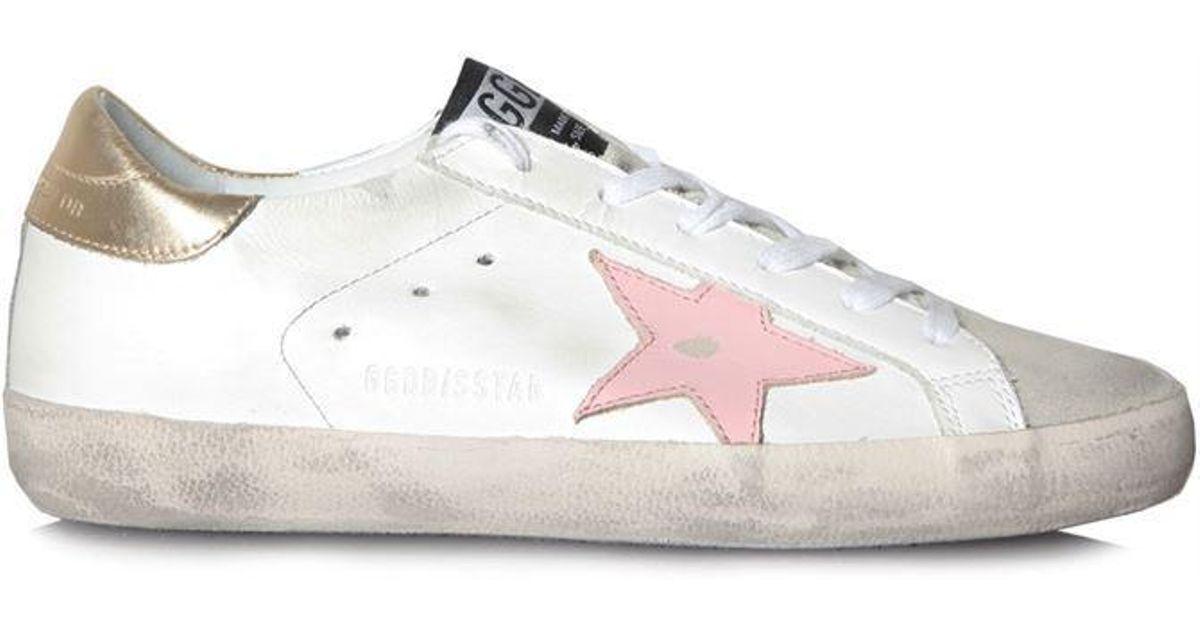 3f219e8630d rosa sneakers Deluxe oro bianco Lyst marca Goose Golden Superstar Iwanq6C8