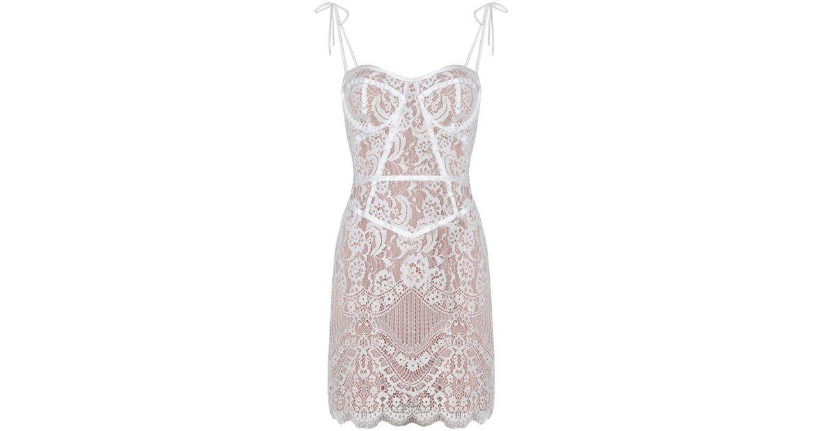 bd4ce98cbcb7 For Love & Lemons Tati Lace Corset Dress White in White - Lyst