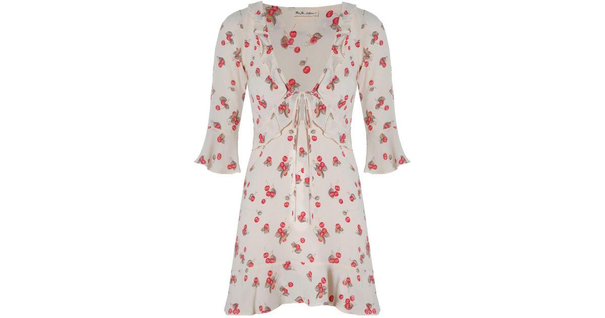 46e9a0ff9b1 Lyst - For Love   Lemons Cherry Sundress Creme in Pink