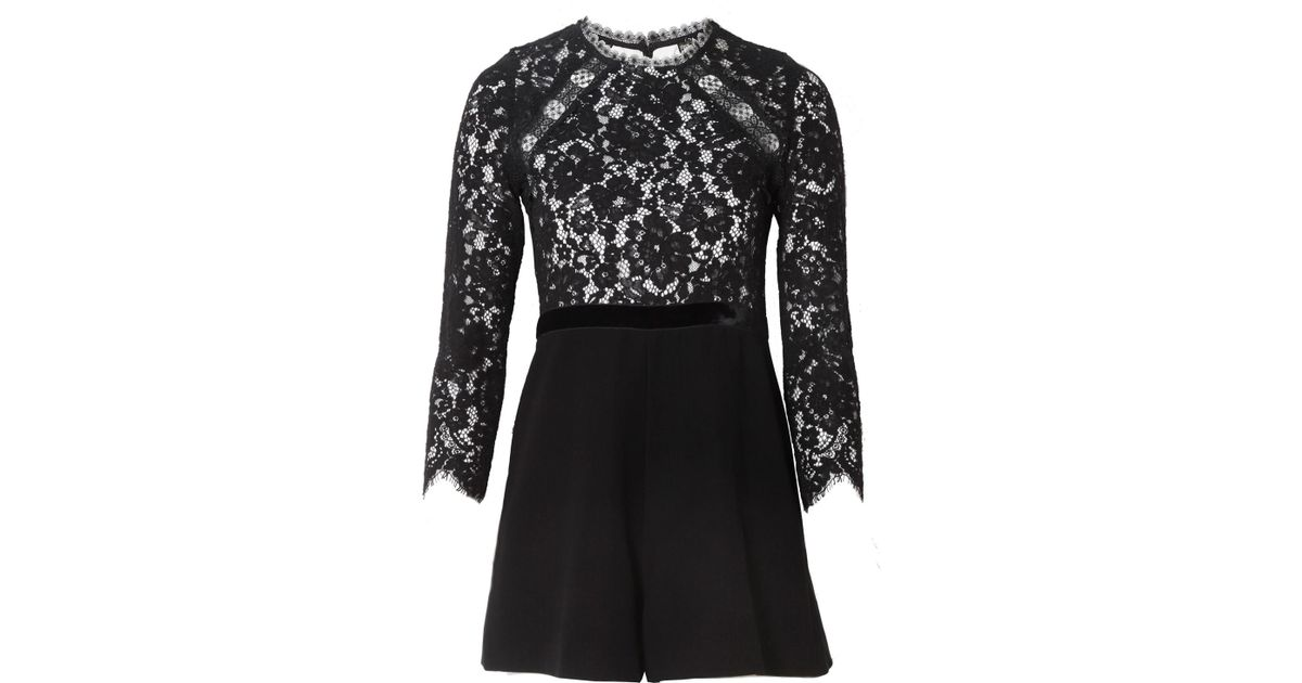 5e663358f4c Lyst - Alexis Tammy Romper In Black And White in Black