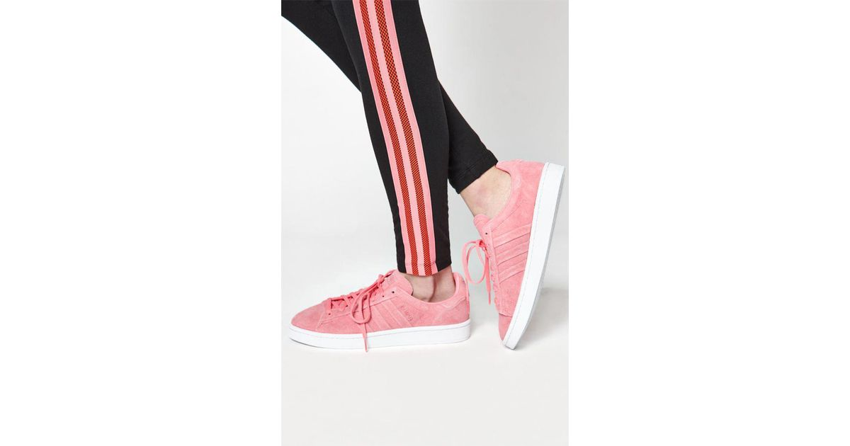 on sale 92d71 2b876 Lyst - adidas Womens Pink Campus Stitch And Turn Sneakers in