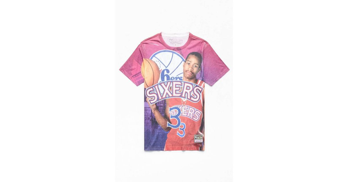 new concept af054 be3e9 Mitchell & Ness - Multicolor Allen Iverson T-shirt for Men - Lyst