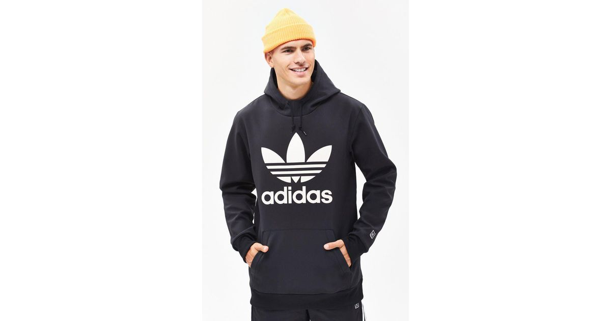 b2a62a03 Lyst - Adidas Team Tech Fleece Black Pullover Hoodie in Black for Men
