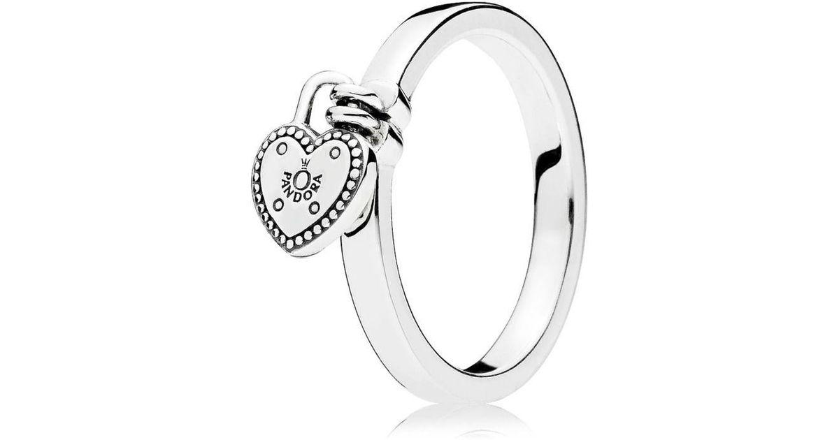 8343d6ec3 ... where to buy pandora love lock ring in metallic lyst 04637 a8476