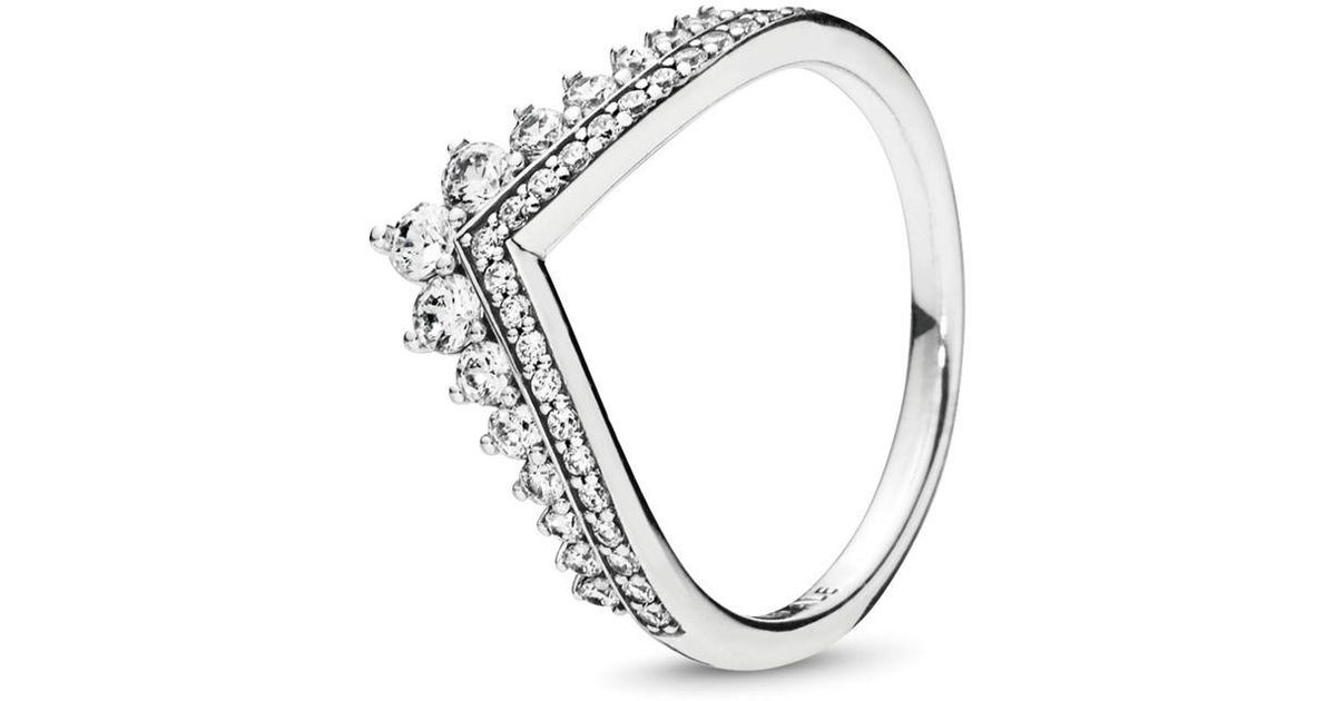 1c9e7aaca PANDORA Princess Wish Ring in Metallic - Lyst