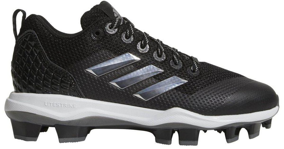 c552b9d53bd adidas Poweralley 5 Tpu Softball Cleats – Womens in Black - Lyst