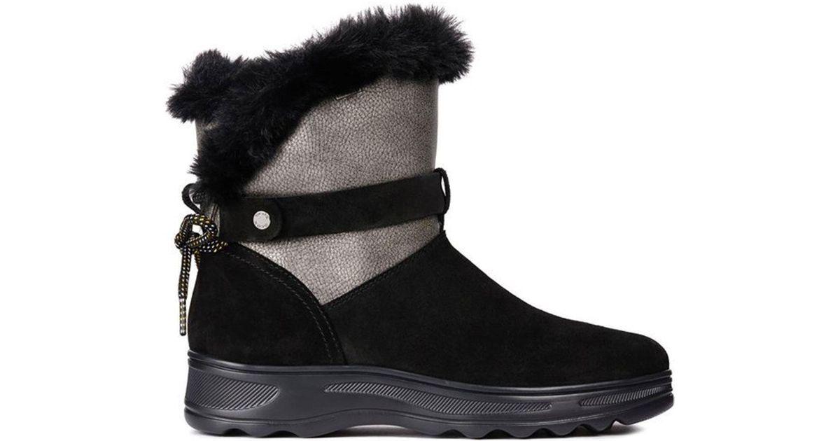 Geox Black Hosmos Abx Waterproof Boots