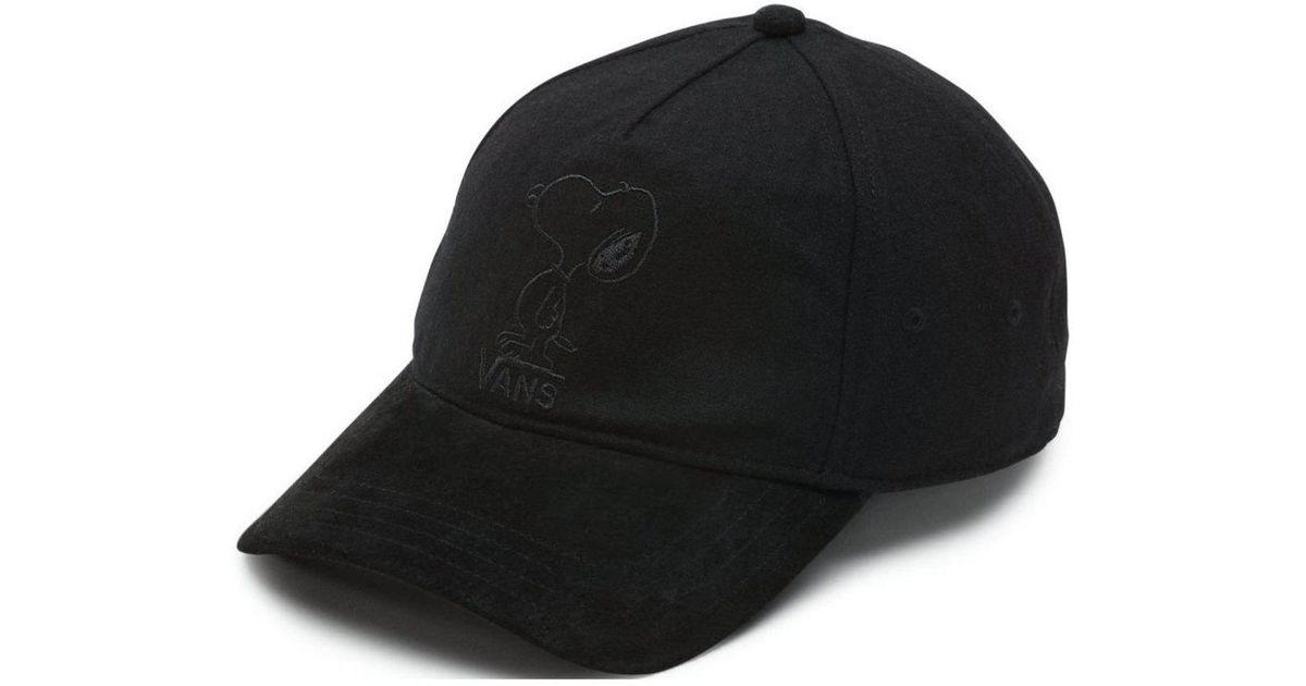 f14d4969f4c Lyst - Vans Peanuts Tonal Dugout Hat in Black for Men